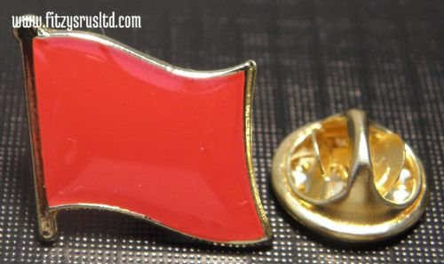 Red Flag Pin Badge Socialist Socialism Communist Symbol